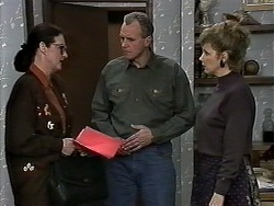 Dorothy Burke, Jim Robinson, Beverly Marshall in Neighbours Episode 1280