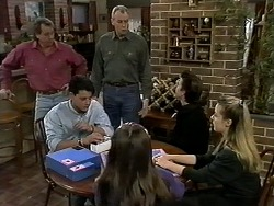 Doug Willis, Josh Anderson, Jim Robinson, Cody Willis, Todd Landers, Melissa Jarrett in Neighbours Episode 1280
