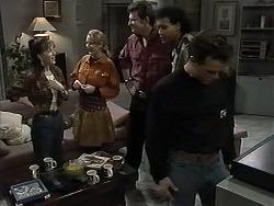 Christina Alessi, Melanie Pearson, Des Clarke, Eddie Buckingham, Paul Robinson in Neighbours Episode 1284