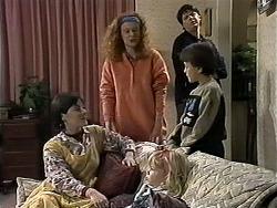 Kerry Bishop, Amber Martin, Sky Mangel, Joe Mangel, Toby Mangel in Neighbours Episode 1284