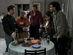 Paul Robinson, Helen Daniels, Des Clarke, Christina Alessi, Eddie Buckingham in Neighbours Episode 1284