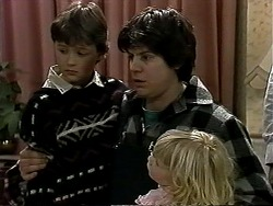 Toby Mangel, Joe Mangel, Sky Bishop in Neighbours Episode 1286