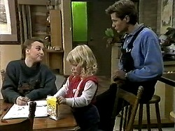 Gemma Ramsay, Sky Mangel, Ryan McLachlan in Neighbours Episode 1287