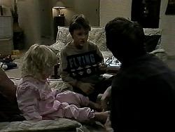 Sky Bishop, Toby Mangel, Joe Mangel in Neighbours Episode 1288