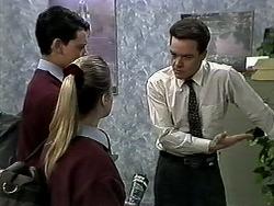 Josh Anderson, Melissa Jarrett, Paul Robinson in Neighbours Episode 1288
