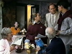 Melissa Jarrett, Brasserie Manager, Josh Anderson in Neighbours Episode 1288
