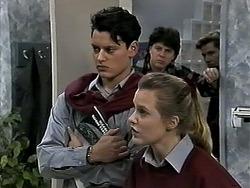 Josh Anderson, Joe Mangel, Melissa Jarrett in Neighbours Episode 1288