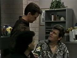 Eddie Buckingham, Paul Robinson, Des Clarke in Neighbours Episode 1289