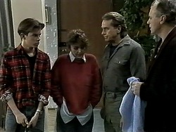 Todd Landers, Pam Willis, Doug Willis, Jim Robinson in Neighbours Episode 1291