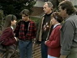 Cody Willis, Todd Landers, Jim Robinson, Pam Willis, Doug Willis in Neighbours Episode 1291