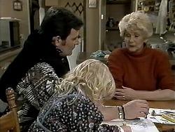 Des Clarke, Sky Mangel, Madge Bishop in Neighbours Episode 1291