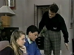 Melissa Jarrett, Josh Anderson, Paul Robinson in Neighbours Episode 1292