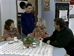 Pam Willis, Todd Landers, Helen Daniels, Doug Willis in Neighbours Episode 1292
