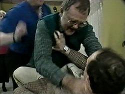 Des Clarke, Harold Bishop, John Swan in Neighbours Episode 1293