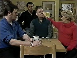 Des Clarke, Eddie Buckingham, Harold Bishop, Madge Bishop in Neighbours Episode 1294
