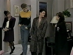 Caroline Alessi, Adam Willis, Paul Robinson, Christina Alessi in Neighbours Episode 1294