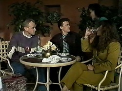 Jim Robinson, Paul Robinson, Caroline Alessi, Isabella Lopez in Neighbours Episode 1294