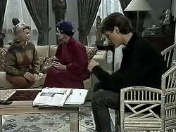 Helen Daniels, Dorothy Burke, Ryan McLachlan in Neighbours Episode 1295
