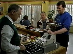 Harold Bishop, Jim Robinson, Des Clarke in Neighbours Episode 1296