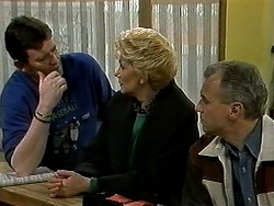 Des Clarke, Madge Bishop, Jim Robinson in Neighbours Episode 1296