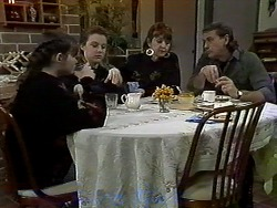 Cody Willis, Melissa Jarrett, Pam Willis, Doug Willis in Neighbours Episode 1296