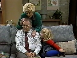Harold Bishop, Madge Bishop, Sky Mangel in Neighbours Episode 1296