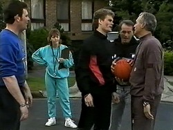 Des Clarke, Pam Willis, Adam Willis, Doug Willis, Jim Robinson in Neighbours Episode 1296