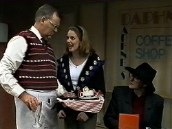 Harold Bishop, Melanie Pearson, Dorothy Burke in Neighbours Episode 1298