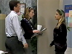 Paul Robinson, Melanie Pearson, Melissa Jarrett in Neighbours Episode 1298