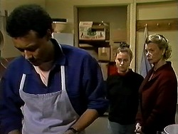 Eddie Buckingham, Gemma Ramsay, Helen Daniels in Neighbours Episode 1300