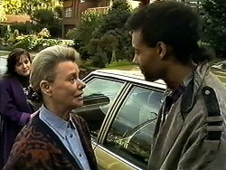 Christina Alessi, Helen Daniels, Eddie Buckingham in Neighbours Episode 1300