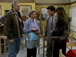 Jim Robinson, Helen Daniels, Paul Robinson, Isabella Lopez in Neighbours Episode 1301