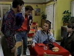 Josh Anderson, Todd Landers, Melissa Jarrett, Cody Willis in Neighbours Episode 1302