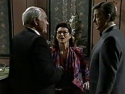 John A, Dorothy Burke, John Brice in Neighbours Episode 1303