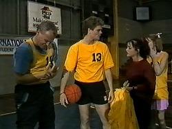 Jim Robinson, Adam Willis, Caroline Alessi, Melanie Pearson in Neighbours Episode 1304