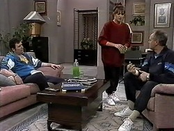 Des Clarke, Caroline Alessi, Jim Robinson in Neighbours Episode 1305