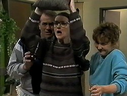 Doug Willis, Dorothy Burke, Pam Willis in Neighbours Episode 1305