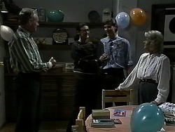 Jim Robinson, Dorothy Burke, Ryan McLachlan, Helen Daniels in Neighbours Episode 1305