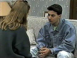 Gemma Ramsay, Aidan Devlin in Neighbours Episode 1306