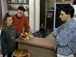 Gemma Ramsay, Matt Robinson, Aidan Devlin in Neighbours Episode 1306