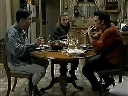 Aidan Devlin, Gemma Ramsay, Matt Robinson in Neighbours Episode 1307
