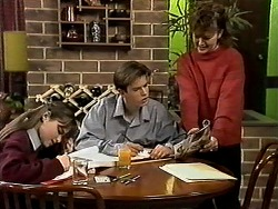 Cody Willis, Todd Landers, Pam Willis in Neighbours Episode 1308