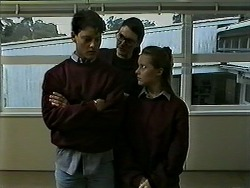 Josh Anderson, Dorothy Burke, Melissa Jarrett in Neighbours Episode 1310