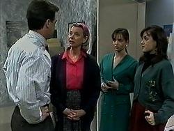 Paul Robinson, Helen Daniels, Caroline Alessi, Christina Alessi in Neighbours Episode 1310