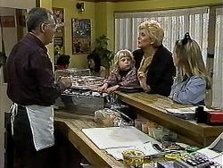 Harold Bishop, Sky Mangel, Madge Bishop, Gemma Ramsay in Neighbours Episode 1313