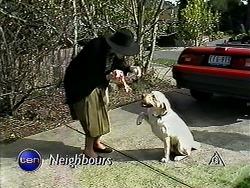 Dorothy Burke, Bouncer in Neighbours Episode 1314