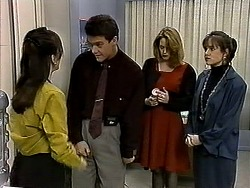 Christina Alessi, Paul Robinson, Melanie Pearson, Caroline Alessi in Neighbours Episode 1315
