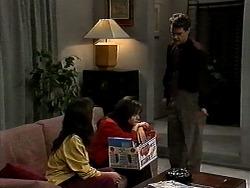 Christina Alessi, Caroline Alessi, Paul Robinson in Neighbours Episode 1315