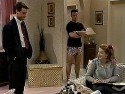 Paul Robinson, Matt Robinson, Melanie Pearson in Neighbours Episode 1315
