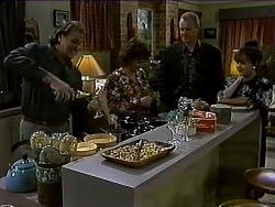 Doug Willis, Pam Willis, Jim Robinson, Caroline Alessi in Neighbours Episode 1316